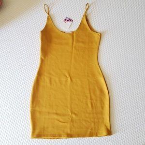 Mustard Bodycon Dress